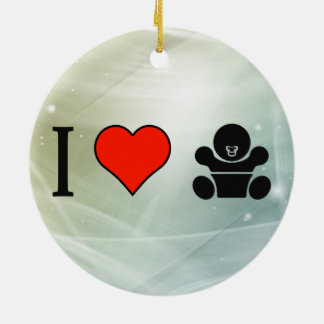 I Love Taking Care Of Babies Double-Sided Ceramic Round Christmas Ornament