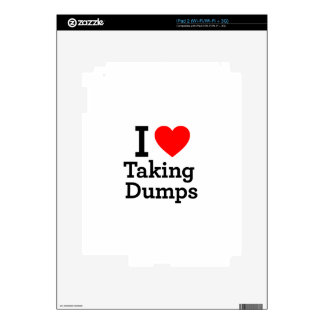 I Love Taking Dumps Decal For iPad 2