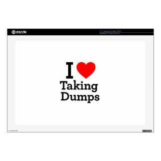 """I Love Taking Dumps Skin For 17"""" Laptop"""