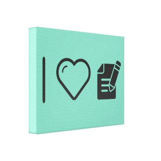 I Love Taking Notes Canvas Print