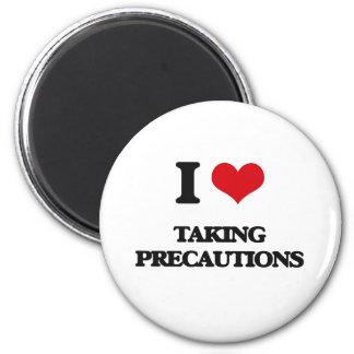 I Love Taking Precautions 2 Inch Round Magnet