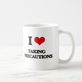 I Love Taking Precautions Classic White Coffee Mug