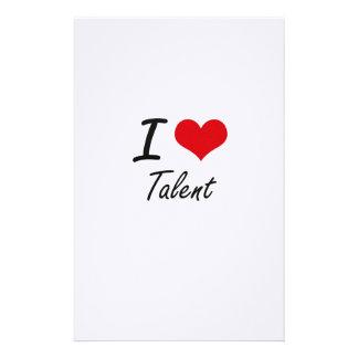 I love Talent Stationery