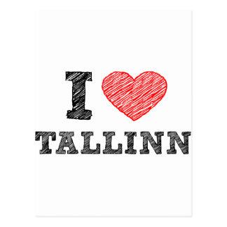 I love Talinn Postcard