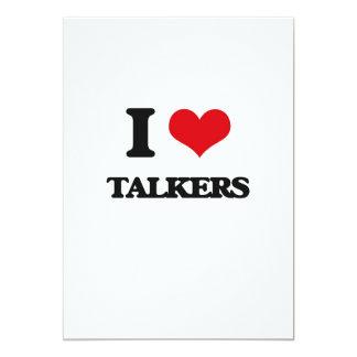 I love Talkers 5x7 Paper Invitation Card