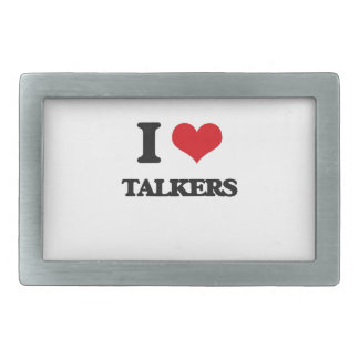I love Talkers Belt Buckle