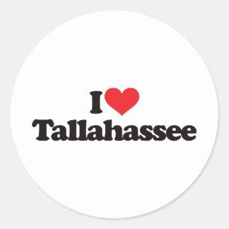 I Love Tallahassee Classic Round Sticker