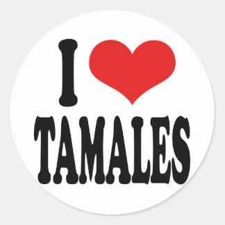 I Love Tamales Classic Round Sticker