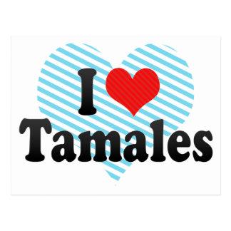 I Love Tamales Postcard