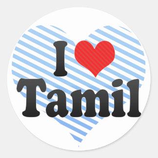 I Love Tamil Classic Round Sticker