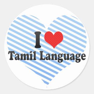 I Love Tamil Language Classic Round Sticker