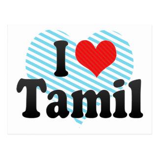 I Love Tamil Postcard