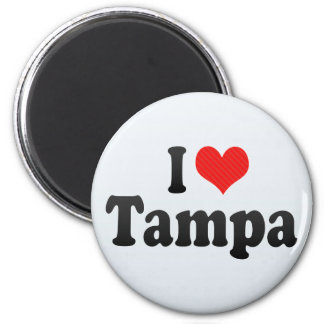 I Love Tampa 2 Inch Round Magnet