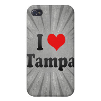 I Love Tampa, United States iPhone 4 Cases