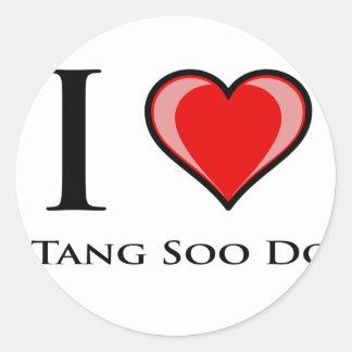 I Love Tang Soo Do Classic Round Sticker