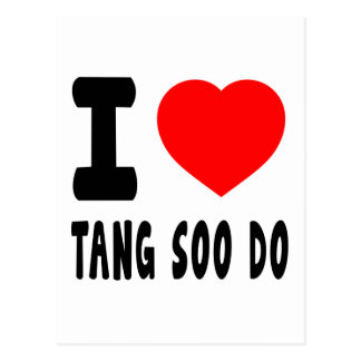 I Love Tang Soo do Post Card