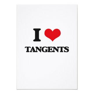 I love Tangents 5x7 Paper Invitation Card
