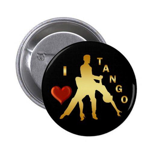 I LOVE TANGO 2 INCH ROUND BUTTON