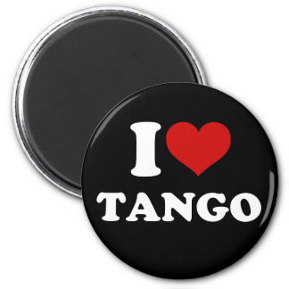 I Love Tango 2 Inch Round Magnet