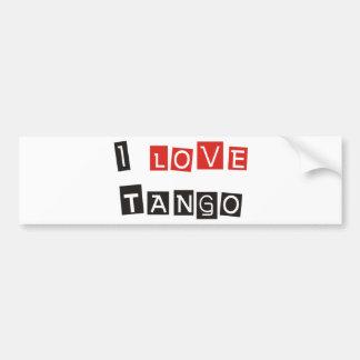 I Love Tango Products & Designs! Car Bumper Sticker