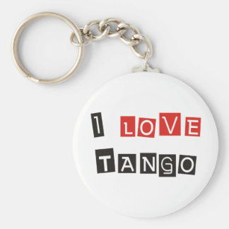 I Love Tango Products & Designs! Key Chain