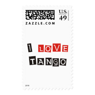 I Love Tango Products & Designs! Postage Stamps