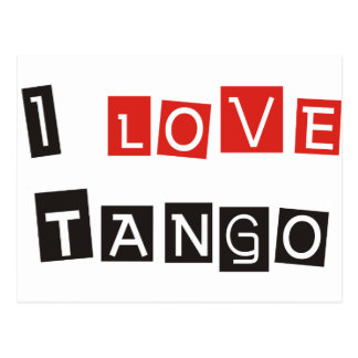 I Love Tango Products & Designs! Postcard