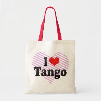 I Love Tango Tote Bags