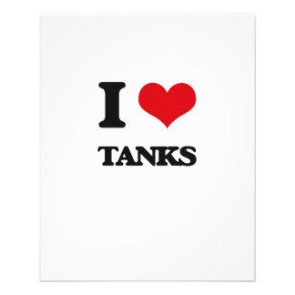 """I love Tanks 4.5"""" X 5.6"""" Flyer"""