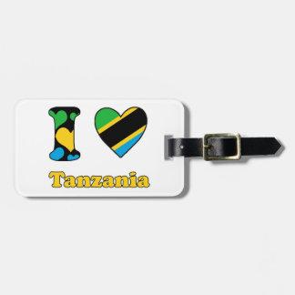 I love Tanzania Bag Tag