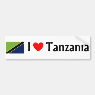 I love Tanzania Bumper Sticker