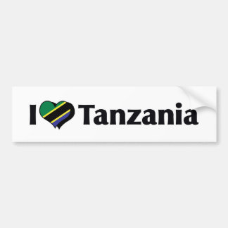 I Love Tanzania Flag Bumper Sticker
