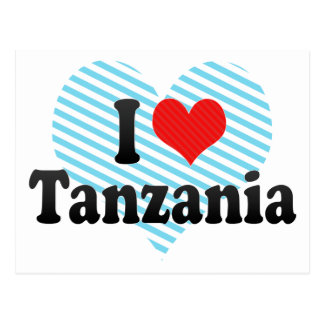 I Love Tanzania Postcards