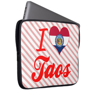 I Love Taos, Missouri Laptop Computer Sleeves