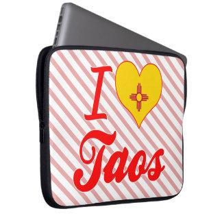 I Love Taos, New Mexico Laptop Computer Sleeve