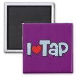 I Love Tap 2 Inch Square Magnet
