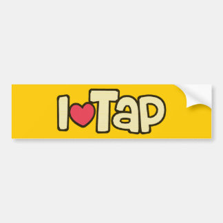 I Love Tap Bumper Sticker