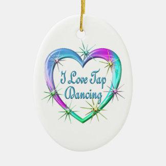 I Love Tap Dancing Ceramic Ornament