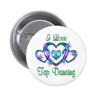 I Love Tap Dancing Pinback Button
