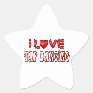 I Love Tap Dancing Star Sticker