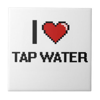 I Love Tap Water Small Square Tile