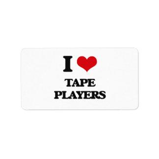 I love Tape Players Address Label