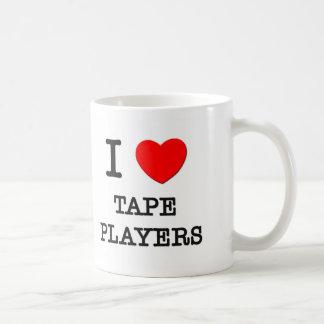 I Love Tape Players Coffee Mug