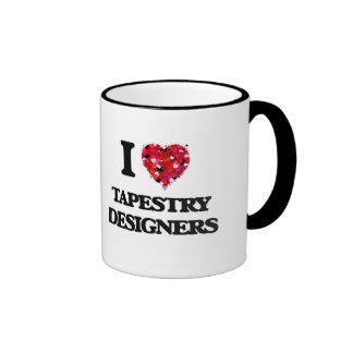 I love Tapestry Designers Ringer Coffee Mug