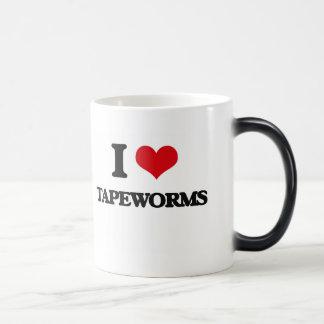 I love Tapeworms 11 Oz Magic Heat Color-Changing Coffee Mug