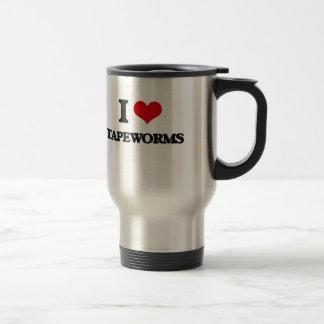 I love Tapeworms 15 Oz Stainless Steel Travel Mug