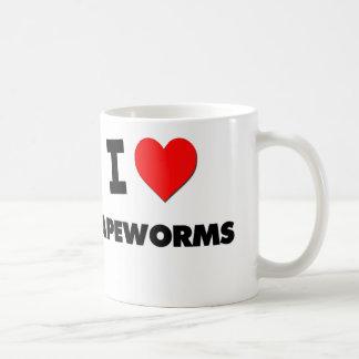 I love Tapeworms Classic White Coffee Mug