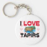 I Love Tapirs Keychain