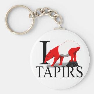 I Love Tapirs Keychains