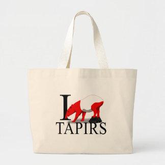 I Love Tapirs Tote Bags